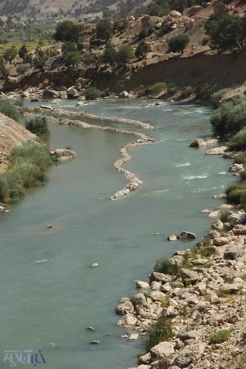 نحوه ورود آب آلوده حوضچههای پرورش ماهی به درون رودخانه اصلی