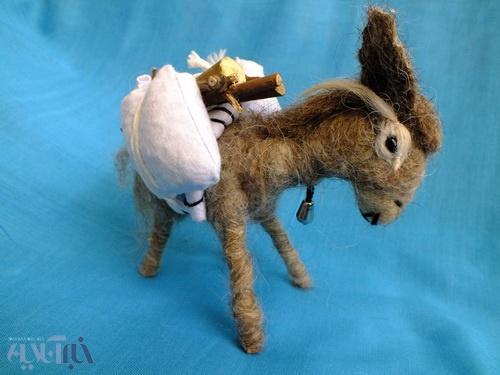 یک نمونه از عروسکهای ساخته شده توسط اهالی سربیشه