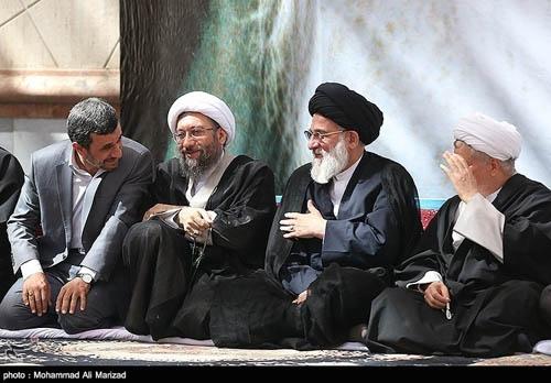 خوش و بش احمدی نژاد و سید حسن خمینی و هاشمی
