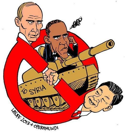 کاریکاتور حلقه حفاظتی سوریه