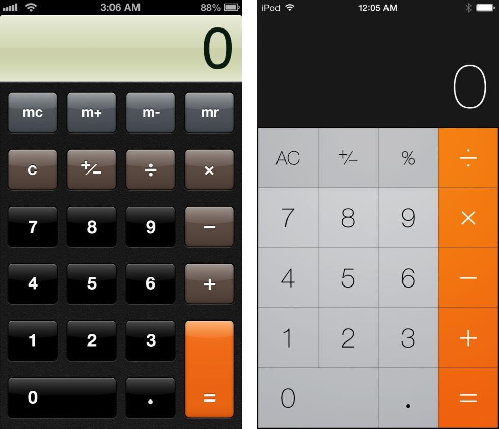 13 9 19 12130calc 980x843 - تصاویری از تفاوت نسخه های 6 و 7 سیستم عامل iOS