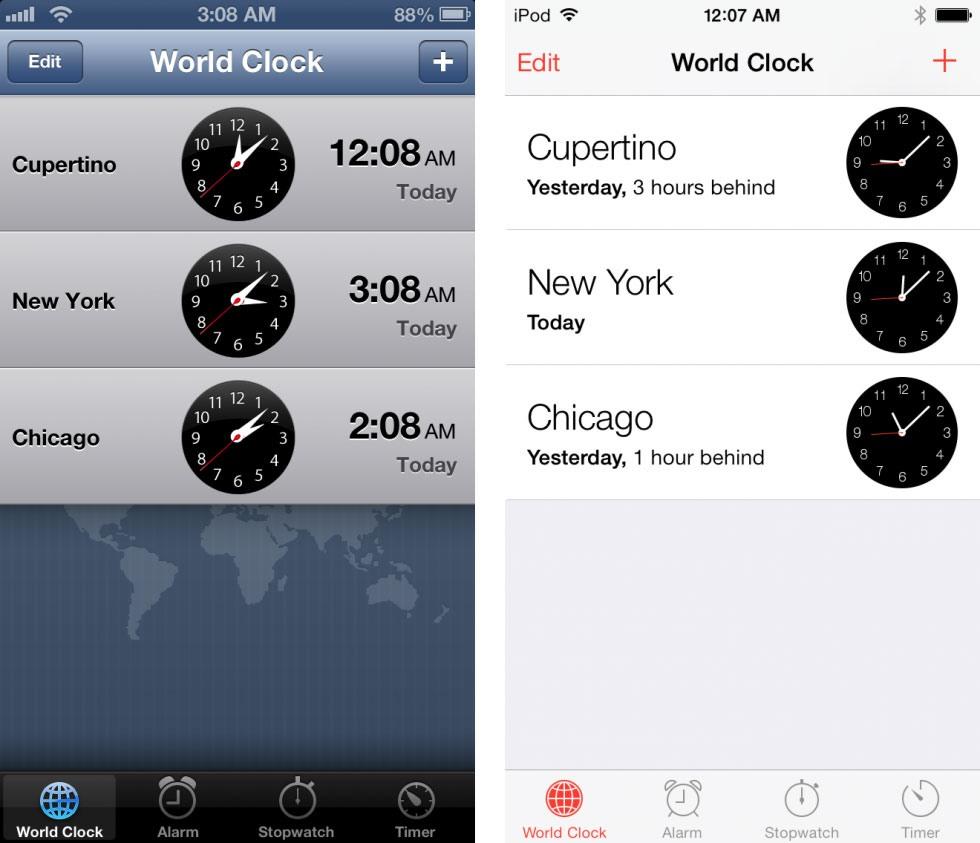 13 9 19 121339clock 980x843 - تصاویری از تفاوت نسخه های 6 و 7 سیستم عامل iOS