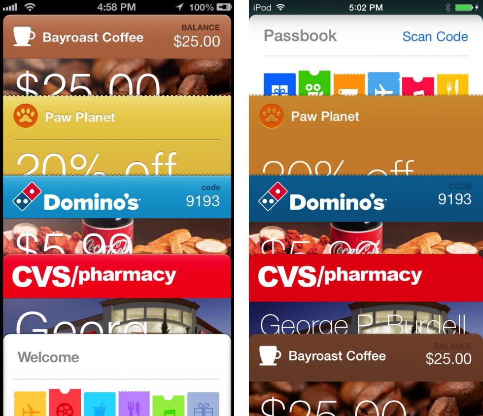 13 9 19 121530passbook 980x843 - تصاویری از تفاوت نسخه های 6 و 7 سیستم عامل iOS