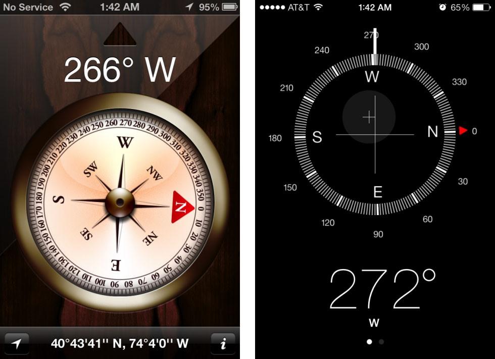 13 9 19 121635compass 980x711 - تصاویری از تفاوت نسخه های 6 و 7 سیستم عامل iOS