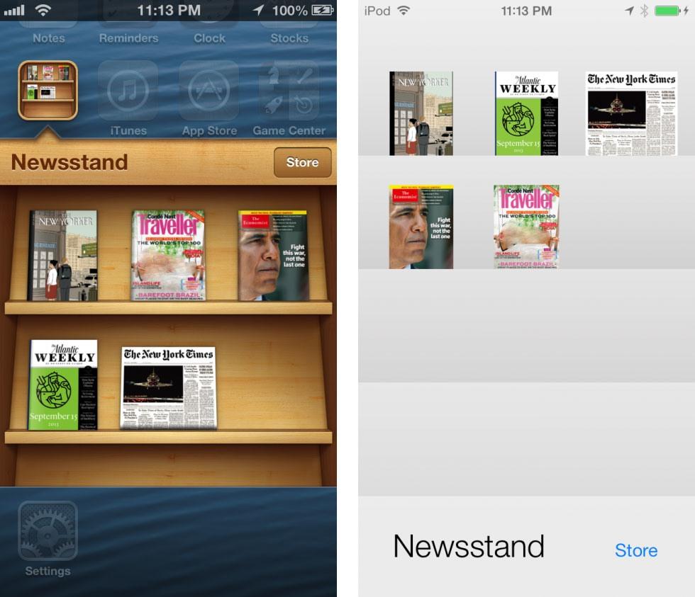 13 9 19 121845newsstand 980x843 - تصاویری از تفاوت نسخه های 6 و 7 سیستم عامل iOS
