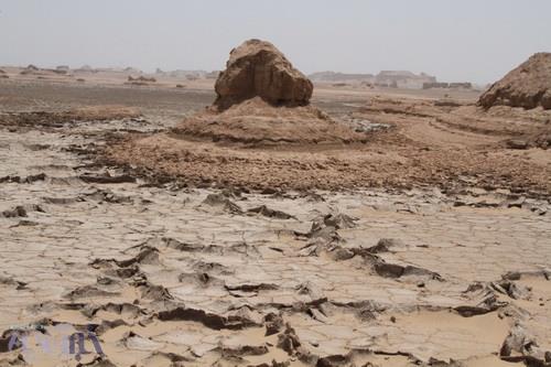 یک رخساره منحصر به فرد در غرب چال مرکزی لوت - عکس از بهمن ایزدی