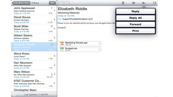 OMP, Outlook Access For iOS