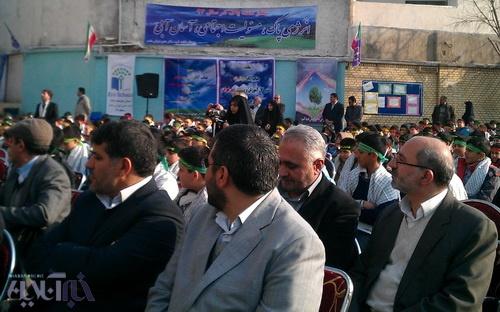 گوشه ای از مراسم دیروز در منطقه 17 تهران