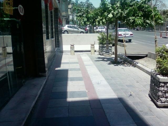 دیوار وسط پیادهرو