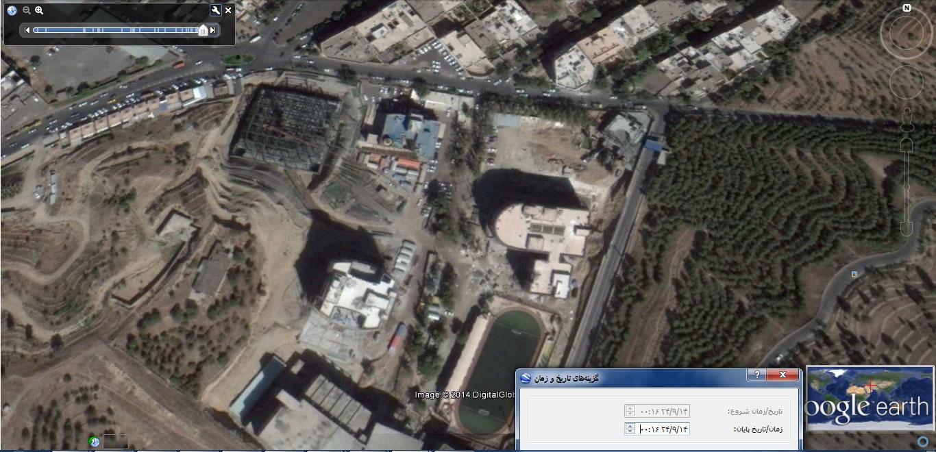 (عکس هوایی 2 مهر 93 از شهرک شهید دقایقی)