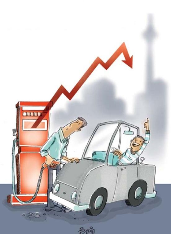 کاریکاتور/ قیمت بنزین!