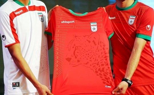 نقش یوزپلنگ ایرانی روی پیراهن تیم ملی