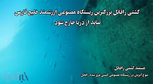 لاشهی غرق شده رافائل در سواحل بوشهر (عکس از رامتین بالف)