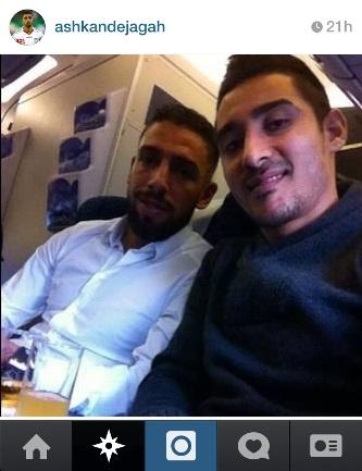 اشکان دژاگه و رضا قوچان نژاد پس از پایان اردوی تیم ملی به انگلستان برگشتند
