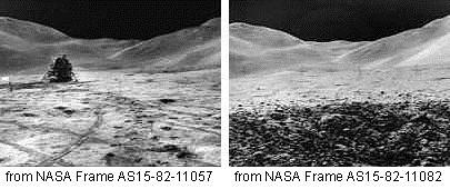 تصویر جنجال برانگیز از ماموریت آپولو 15