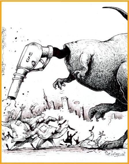 کاریکاتور/ بنزین گران شد!