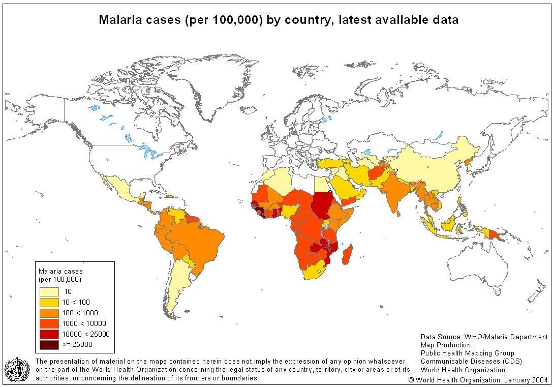 وضعیت مالاریا در ایران و جهان