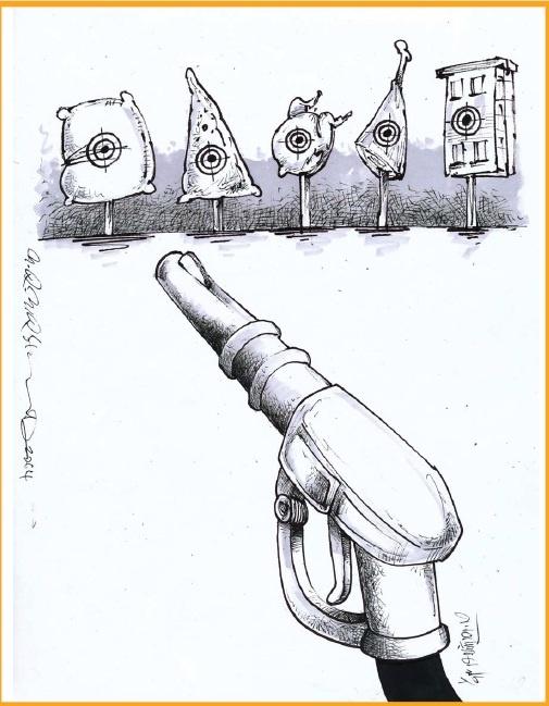 کاریکاتور/ شلیک بنزین!