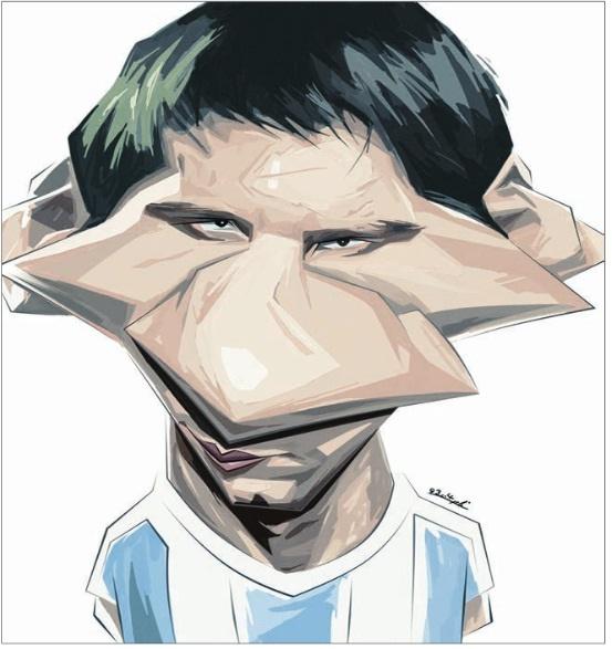 کاریکاتور/ لیونل مسی!