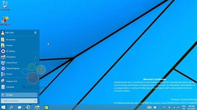 بازگشت منوی استارت روی ویندوز 9 را ببینید