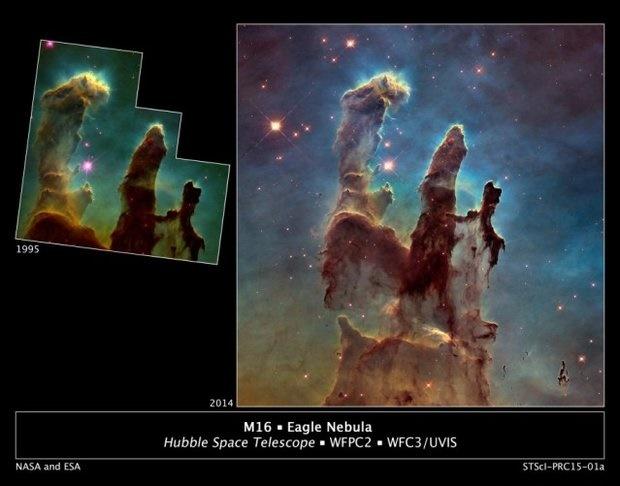 ستون های شگفت انگیز کائنات را ببینید/ از دل این ستون ها ستاره های جدید متولد می شود