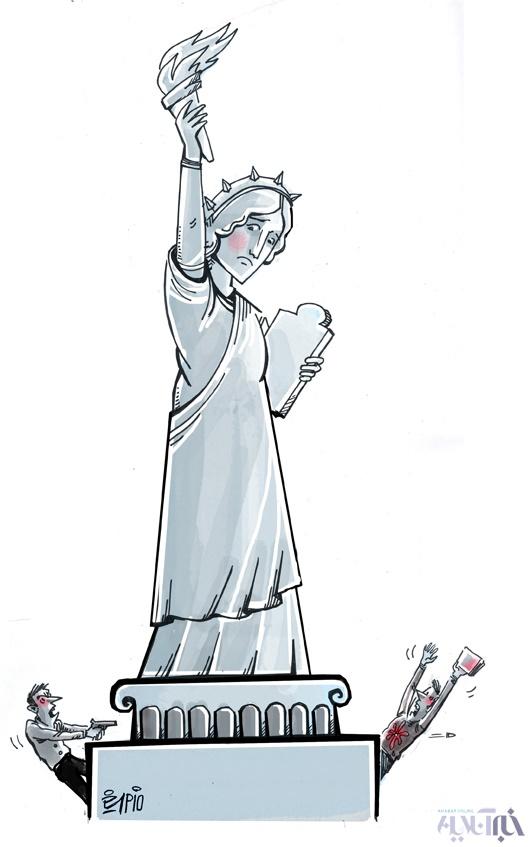 15 10 12 1386terorist کاریکاتور/ هفت تیر کشی در دانشگاه