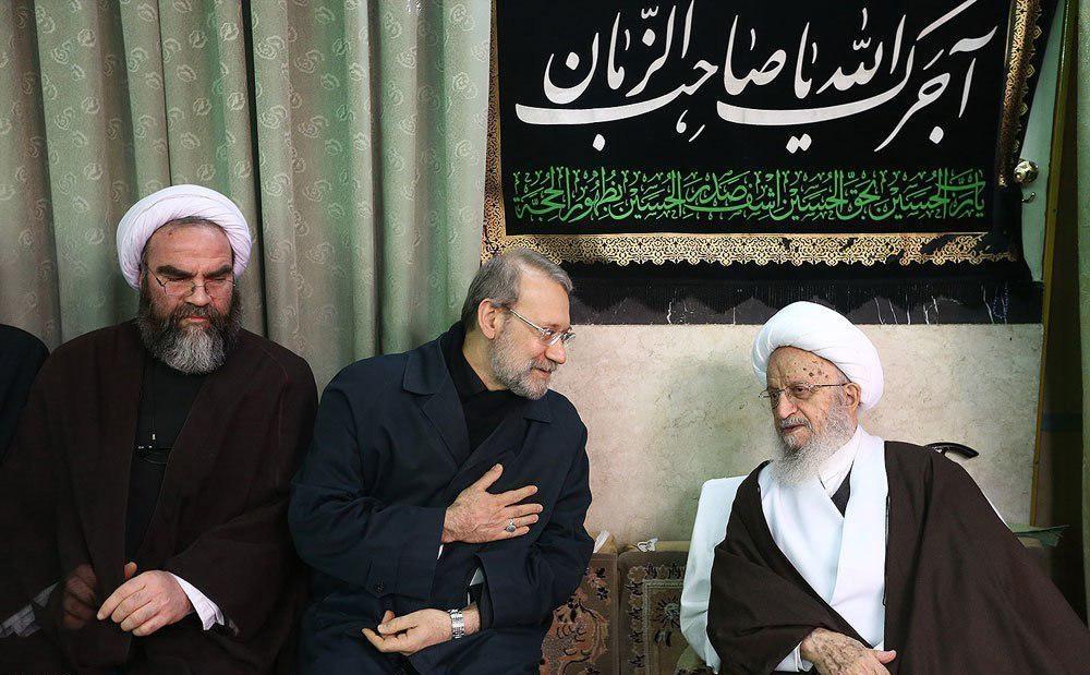 علی لاریجانی,آیت الله ناصر مکارم شیرازی