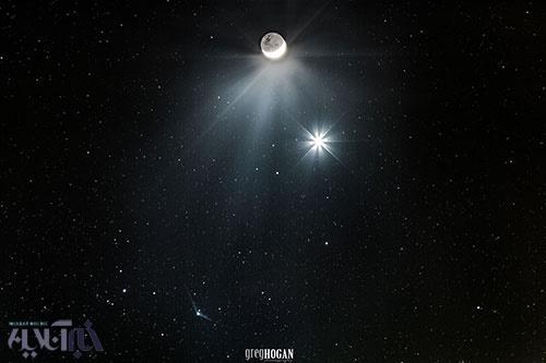علم فیزیک - همنشینی ماه و ناهید و کاتالینا