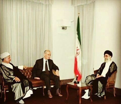حافظ اسد,آیتالله خامنهای رهبر معظم انقلاب,اکبر هاشمی رفسنجانی