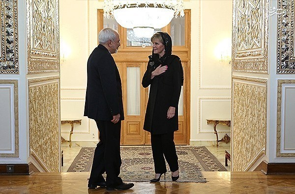 وزیر امور خارجه استرالیا, دیدار وزیر امورخارجه استرالیا و ظریف