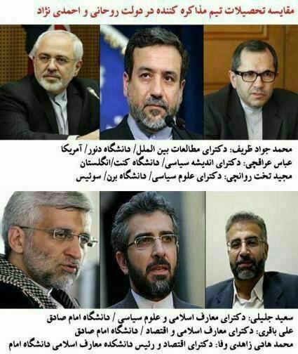 مذاکرات هسته ای ایران با 5 بعلاوه 1,محمدجواد ظریف,سعید جلیلی