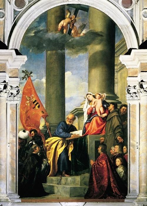 مریم مقدس و اعضای خانواده پزارو