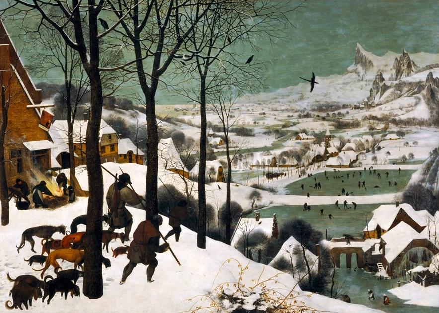 شکارچیان در برف - پیتر بروگل