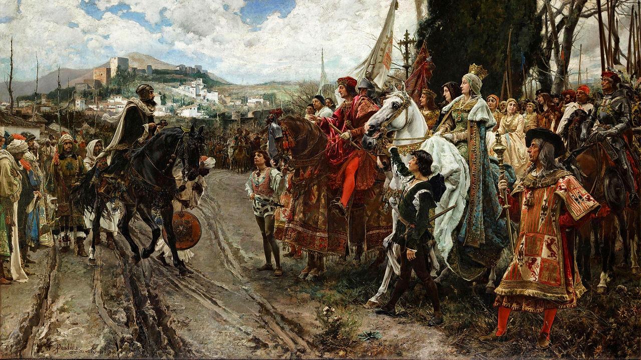 تابلوی تسلیم گرانادا به صلیبان