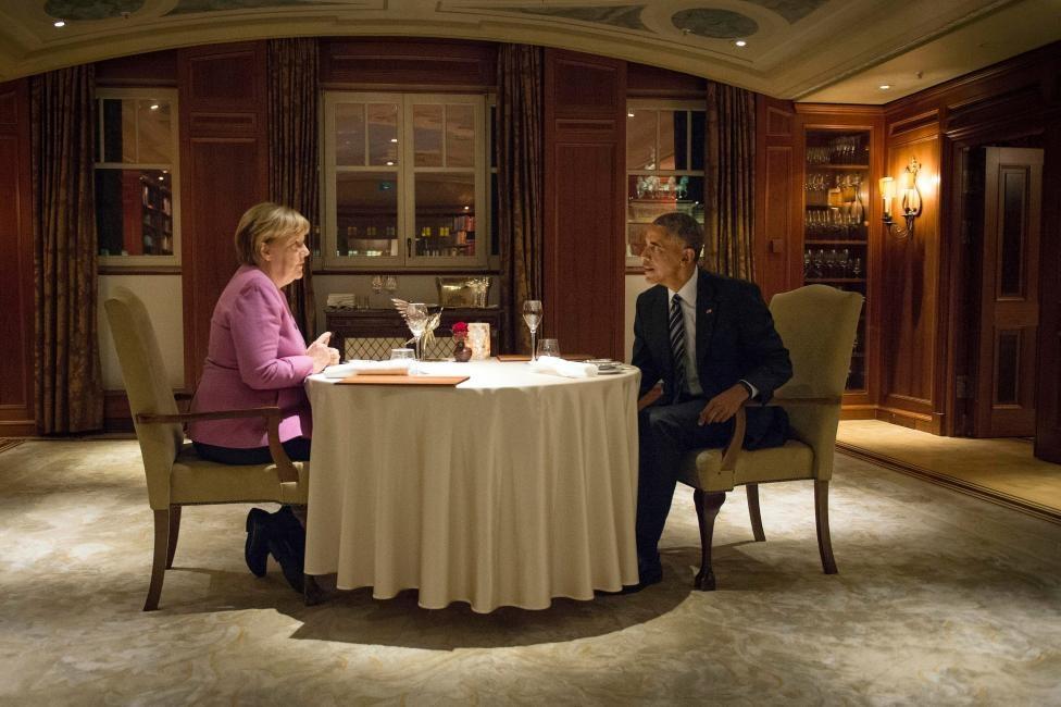 شام آخر اوباما و مرکل/عکس