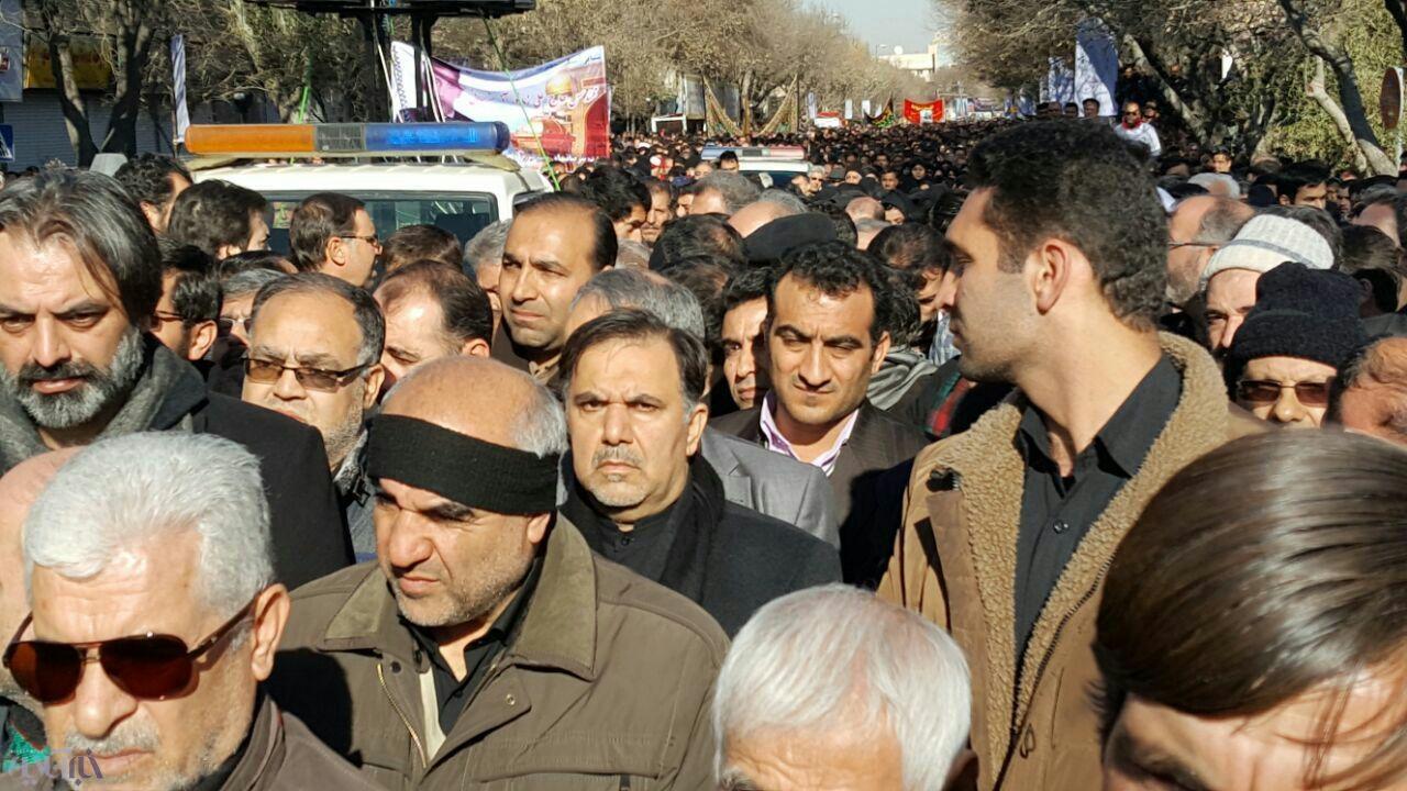 آخوندی در مراسم تشییع جان باختگان حادثه ریلی