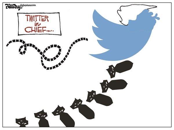 بمباران توئیتری ترامپ!