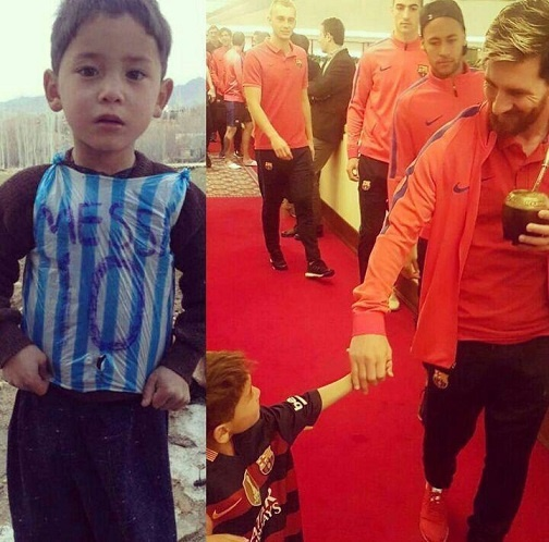 16 12 13 18831photo 2016 12 13 17 52 25 - مسی آرزوی کودک افغان را برآورده کرد