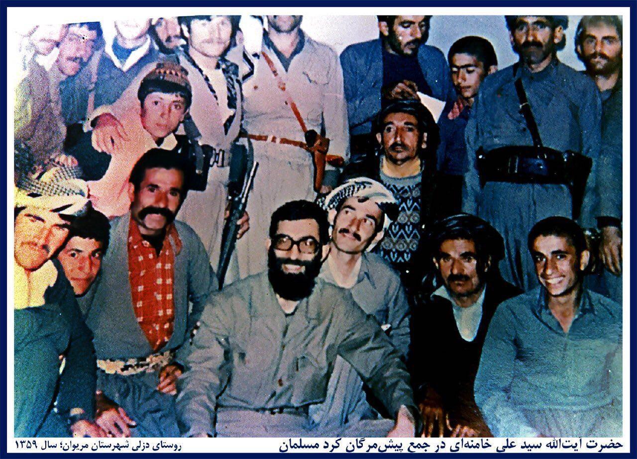 تصویری متفاوت از رهبر انقلاب در جمع پیشمرگان کُرد