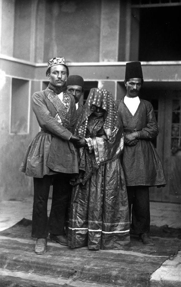 عروس و داماد در دوره قاجار