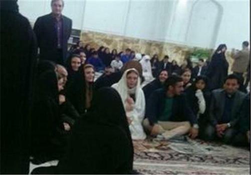 عکسی از مراسم عقد رضا قوچان نژاد