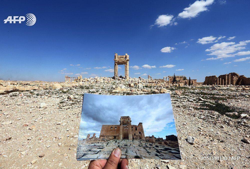 داعش با شهر چند هزار ساله سوریه چه کار کرده است؟ / تصاویری از پالمیرا، قبل و بعد از هجوم داعش