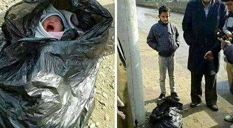 نوزادی که در کیسه زباله پیدا شده بود تحویل بهزیستی شد/ عکس