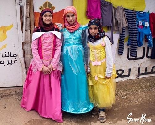 روزی روزگاری جنگ / وقتی دختران مهاجر سوری، سیندرلا میشوند/ این تصاویر را ببینید