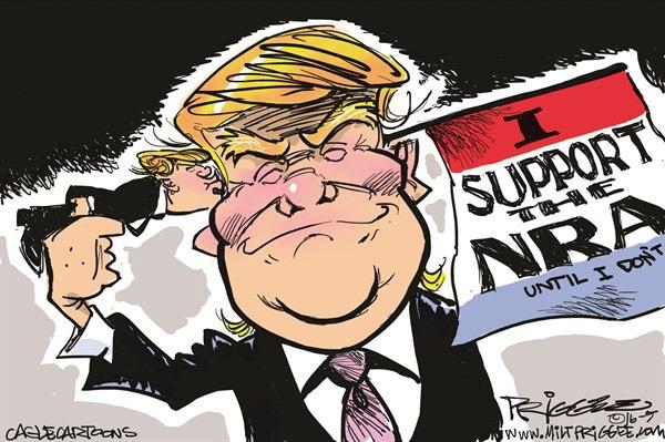 کاریکاتور/ ژست جدید ترامپ!