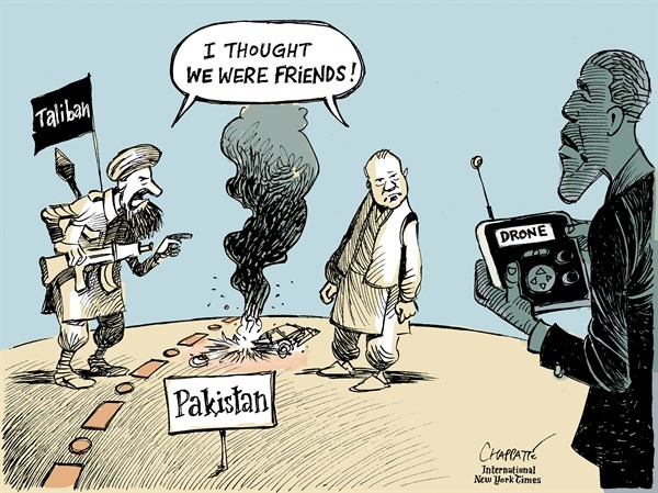 کاریکاتور/ راز کشته شدن رهبر طالبان!