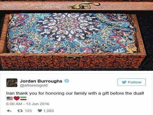 جردن باروز از فدراسیون کشتی ایران تشکر کرد