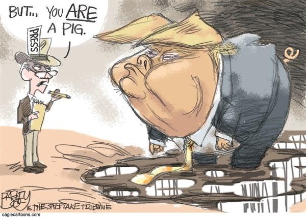 کاریکاتور/ واکنش رسانهها به فحاشی ترامپ!