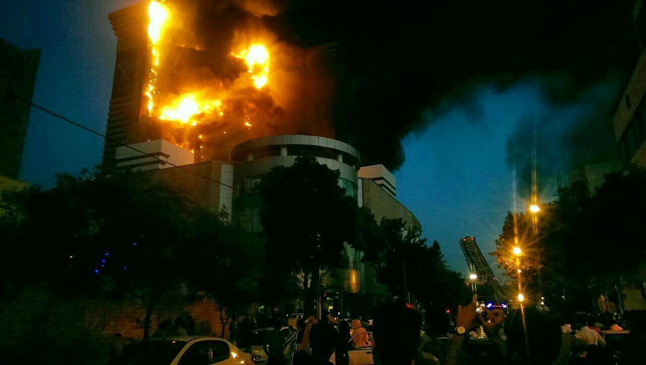 اتش سوزی در برج سلمان مشهد