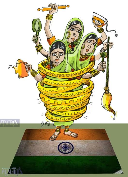 کاریکاتور/ زنان هندی رکورد زدند!